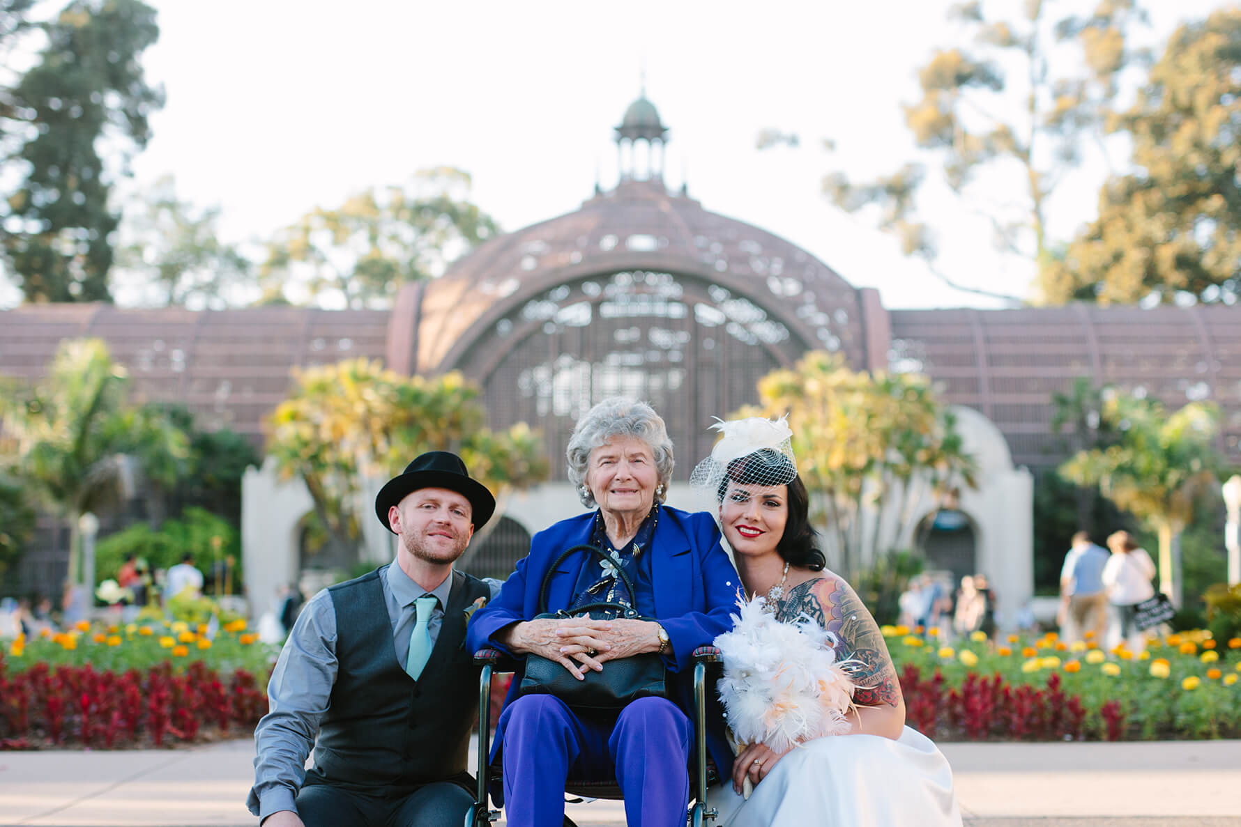 Retro Balboa Park San Diego Wedding | Lauren DeGracia