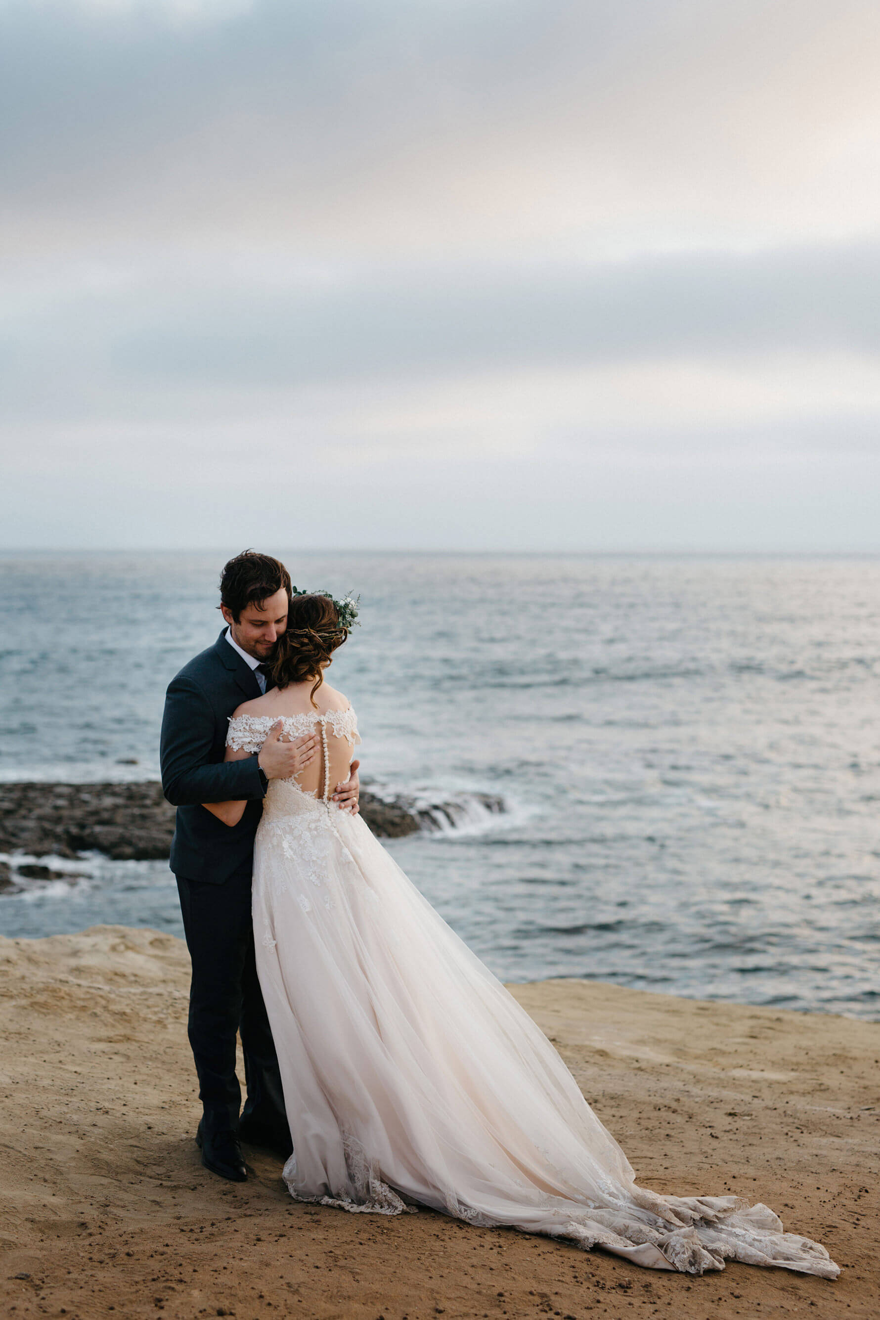 Timeless Romance San Diego Bride & Groom Portraits | Lauren DeGracia
