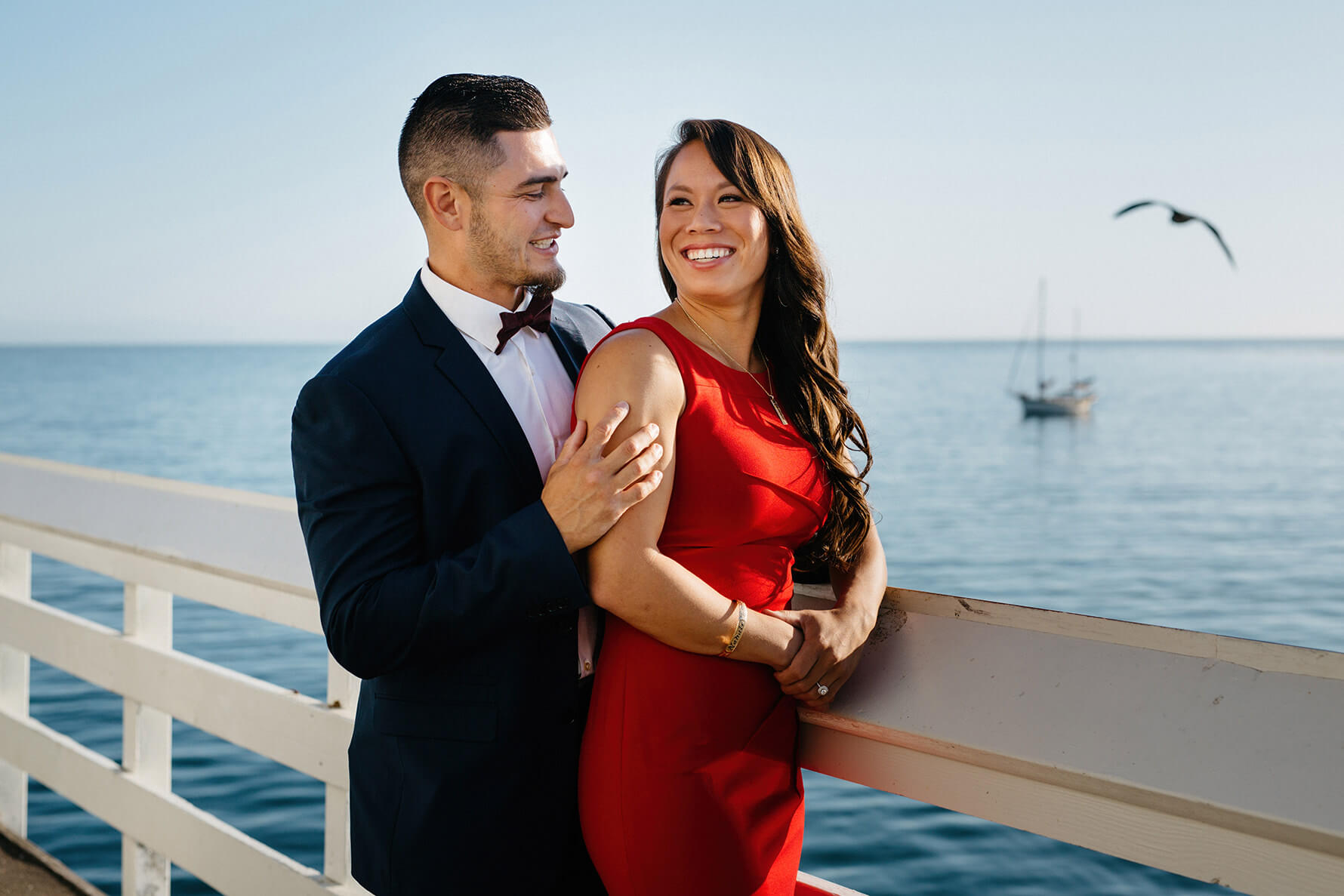 Cowell Beach Santa Cruz Destination Engagement Session | Lauren DeGracia