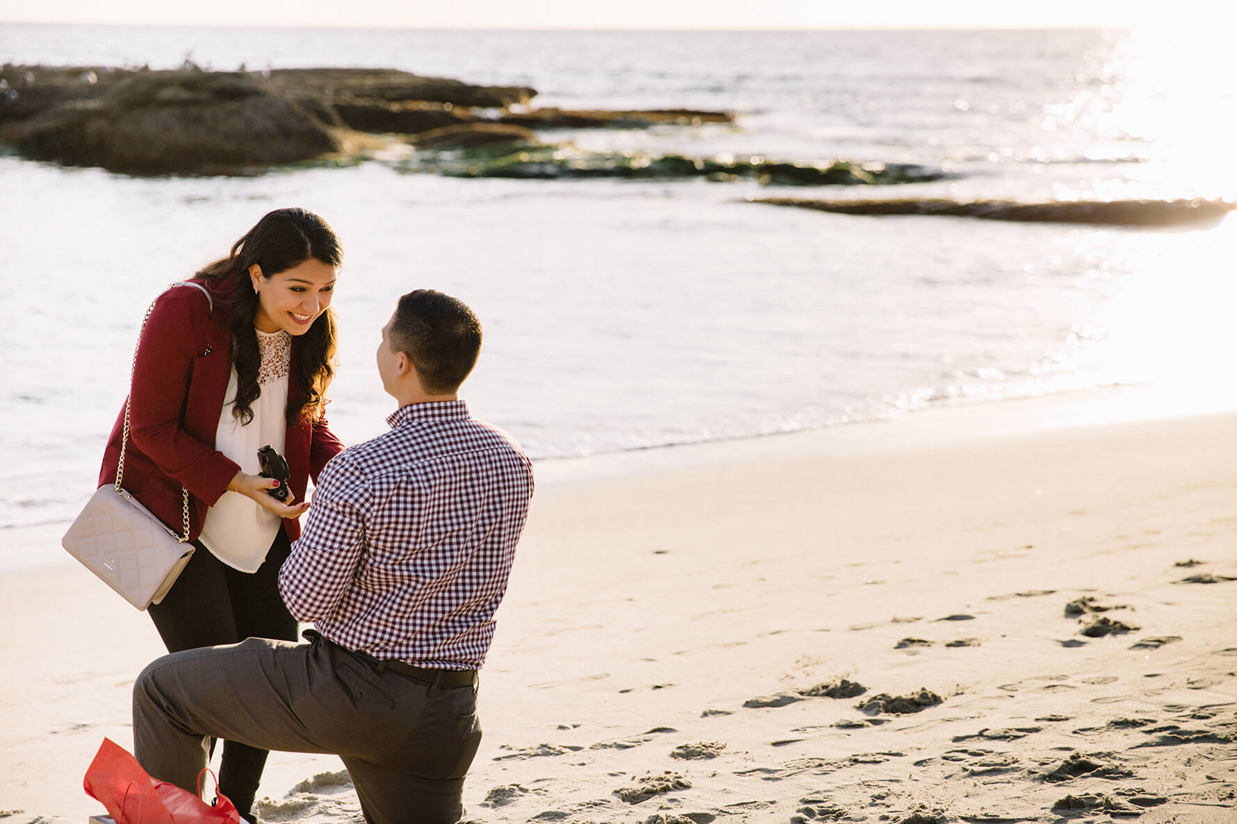 Laguna Beach Christmas Surprise Proposal | Lauren DeGracia
